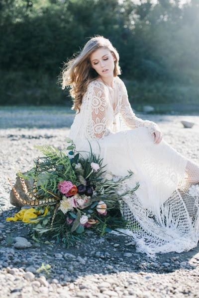 bohemian wedding dress by Rue de Seine