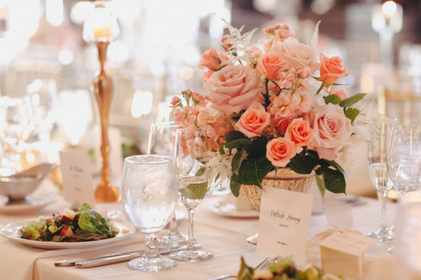 rose floral centerpiece
