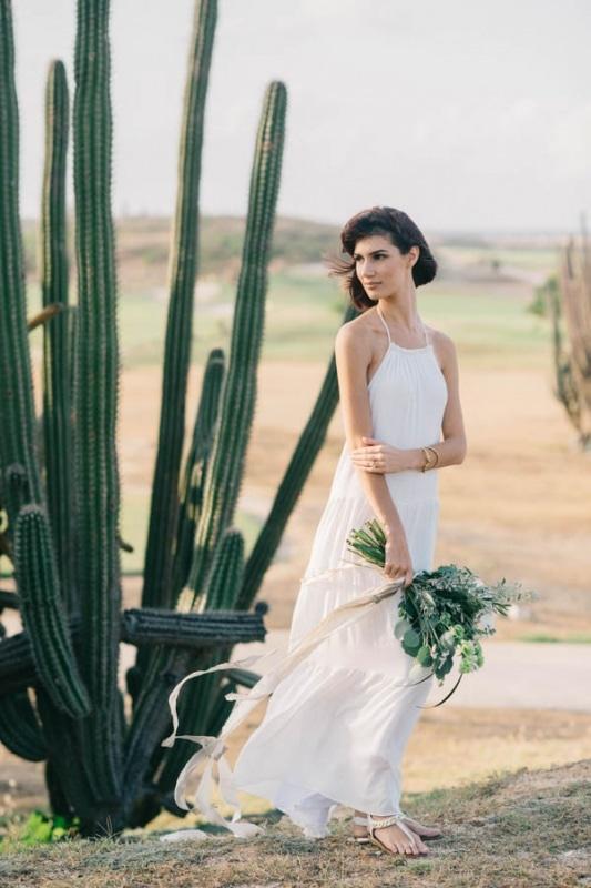 boho island wedding dress   Wedding Inspiration Board   Junebug Weddings