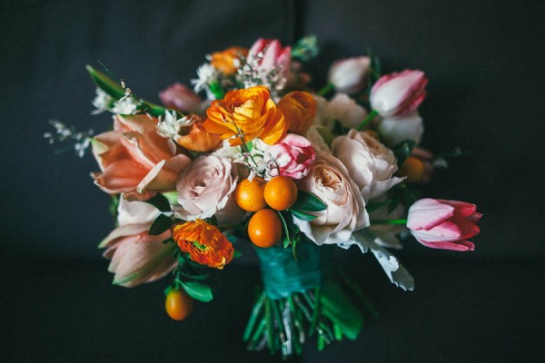 bouquet with oranges