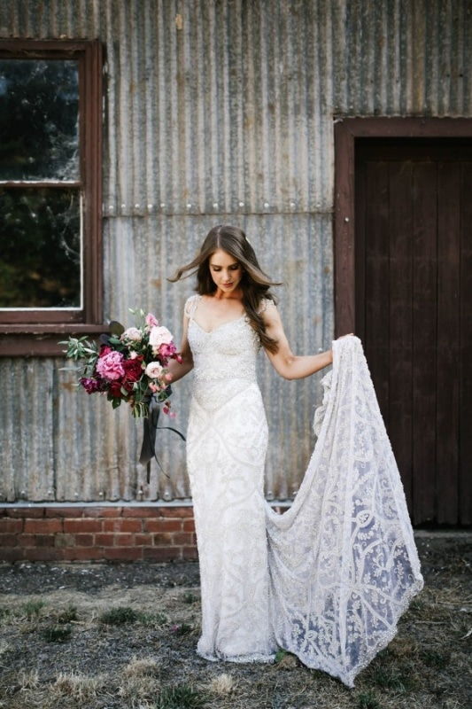 Anna Campbell embellished wedding dress