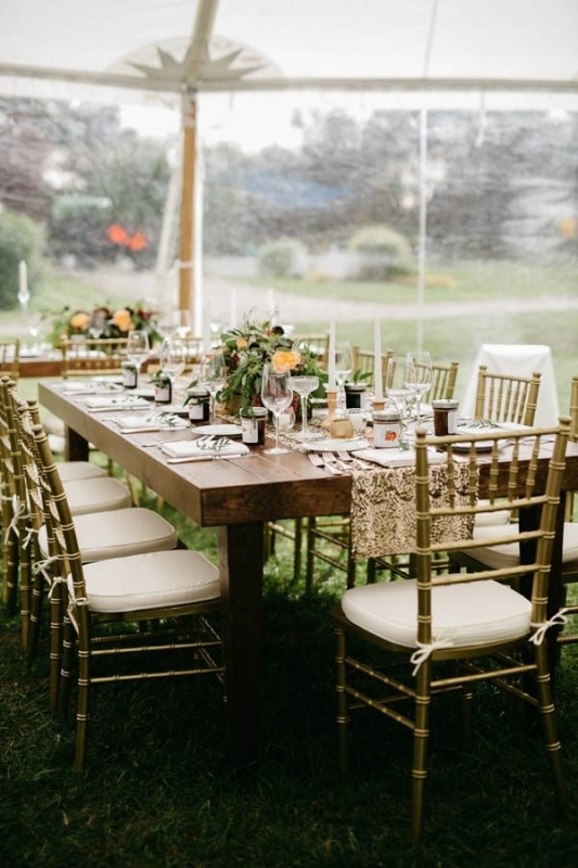 elegant reception table setting