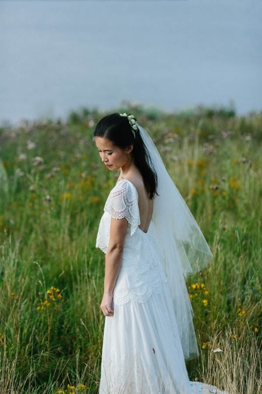 ethereal beach wedding dress
