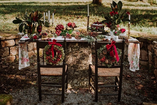 Winter Holiday Sweetheart Table Chairs and Decor