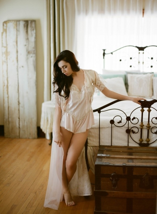 Pastel Vintage Boudoir Session by Gabe McClintock Photography and Justine Celina Maguire