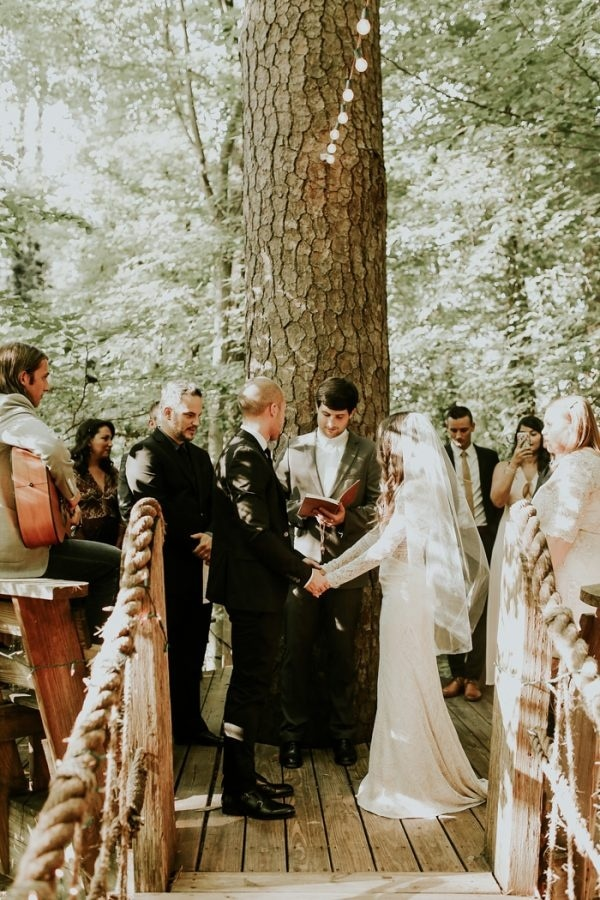 Treehouse Wedding Ceremony in Atlanta, Georgia