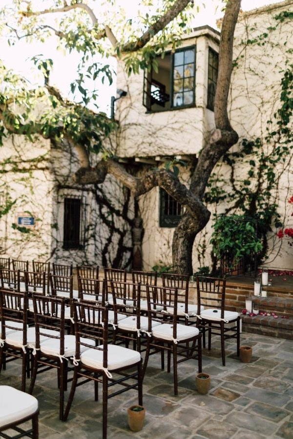 Elegant Outdoor Wedding Ceremony at The Villa San Juan Capistrano