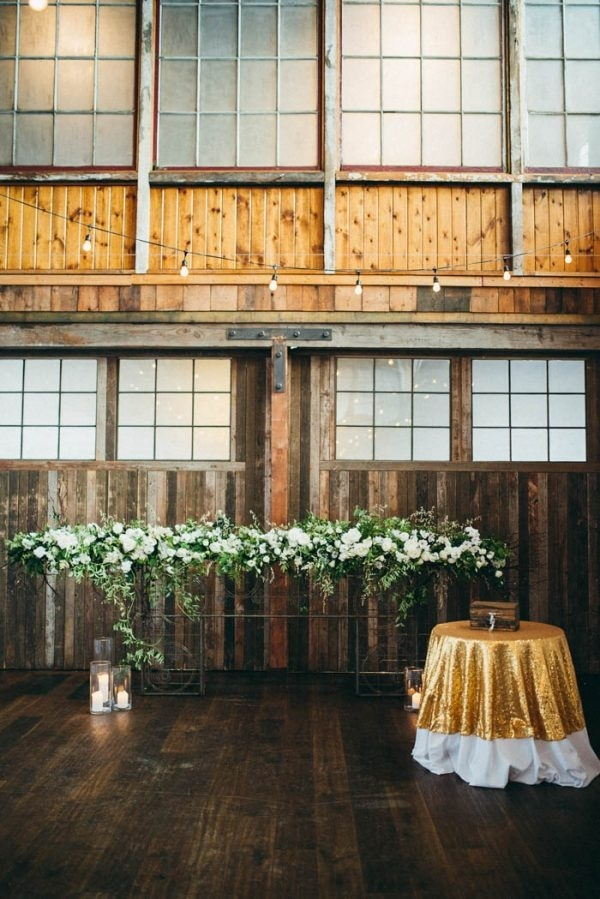 Fabulous Downtown Seattle Wedding at Sodo Park Ceremony Decor