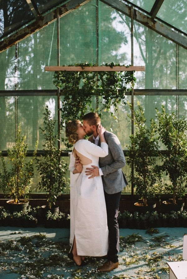 DIY South African Greenhouse Wedding Ceremony at Rosemary Hill