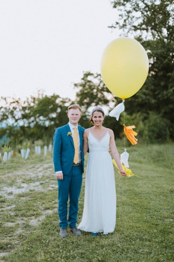 Yellow and Blue Spring Wedding Inspiration in Austria