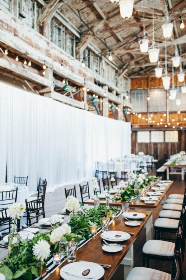 Modern Industrial Wedding Reception at Sodo Park in Seattle