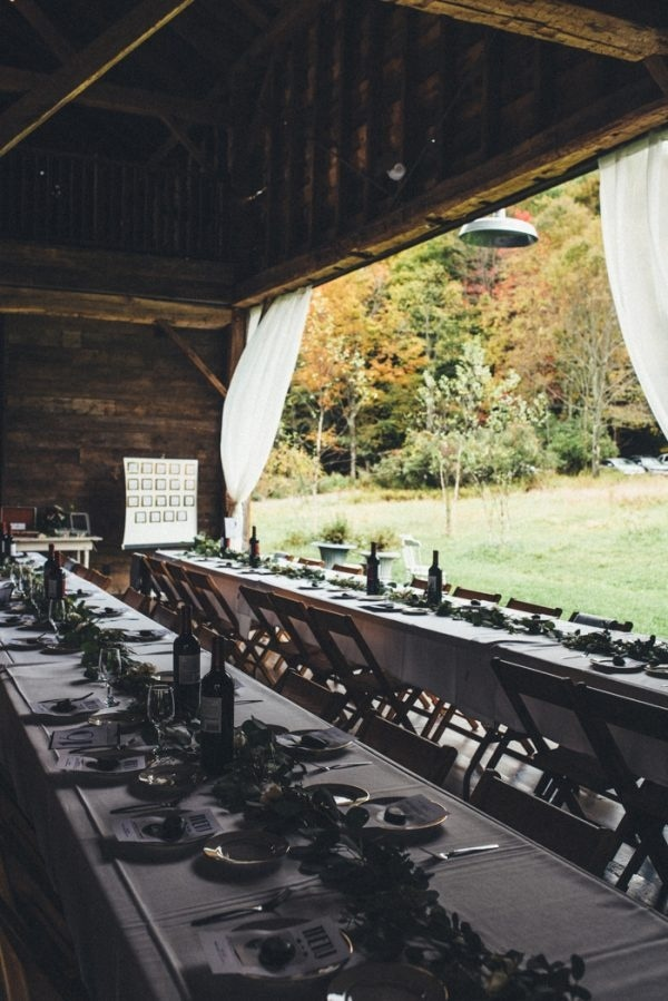 Open-Air Barn Wedding Reception