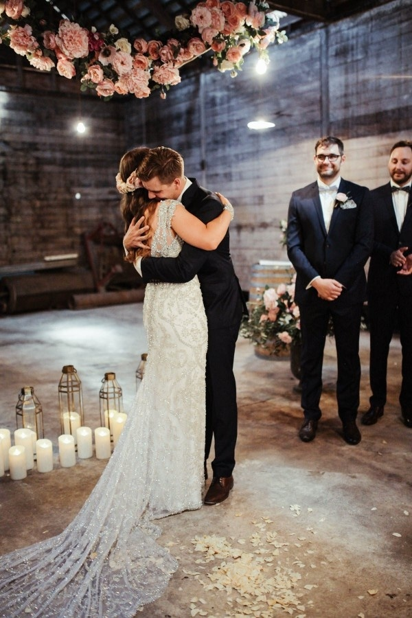 Candlelit Barn Ceremony at Anderson's Mill