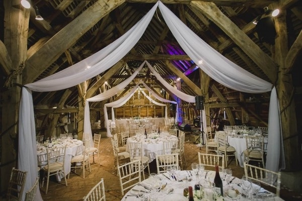 Gatsby Inspired Barn Wedding in Surrey