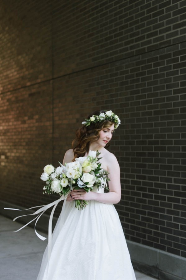 Industrial Modern Bridal Style and Bouquet