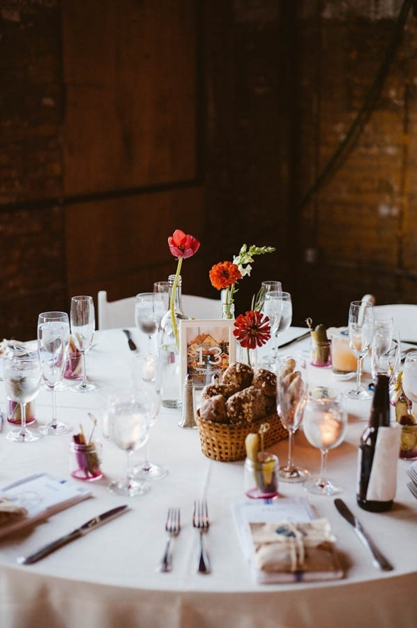 NYC Industrial Modern Warehouse Reception Tablescape