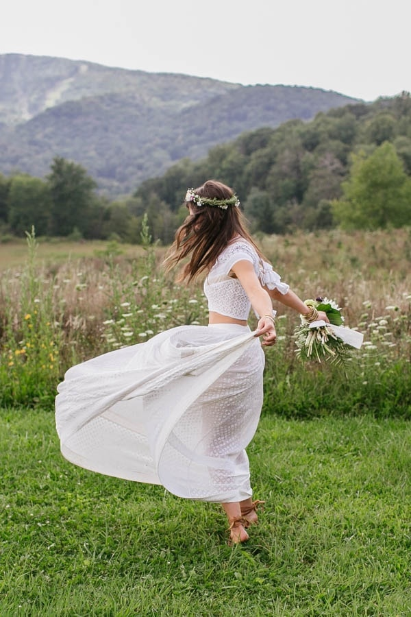 Free Spirited Bohemian Free People Wedding Dress