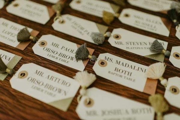 diy modern classic embossed wedding escort cards - Wedding Escort Cards