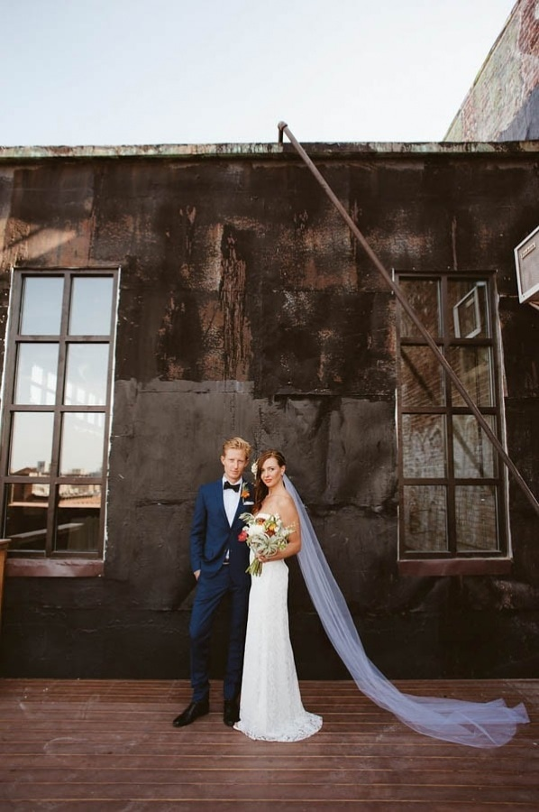 NYC Industrial Modern Couple Portrait