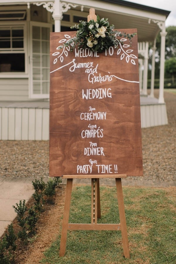 Order Of Events Wedding.Bohemian Hand Lettered Order Of Events Sign Wedding Inspiration