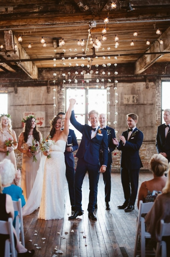NYC Industrial Modern Recessional Photo
