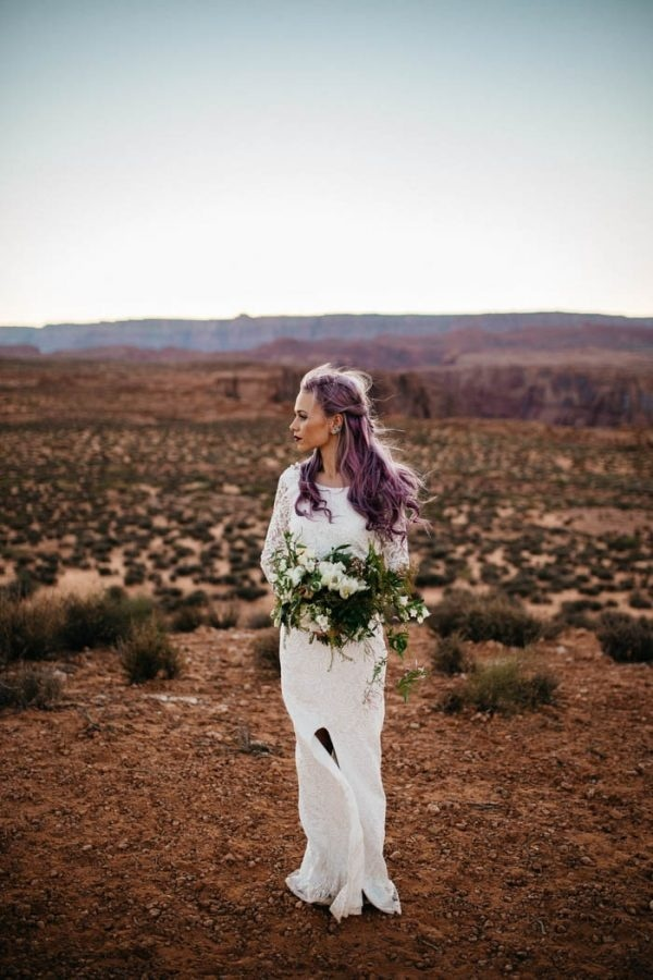 Alternative Arizona Elopement Bridal Style