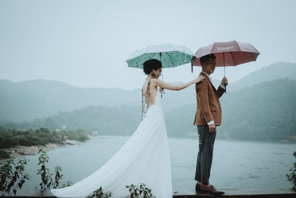 Remote and Rustic Rainy Elopement First Look