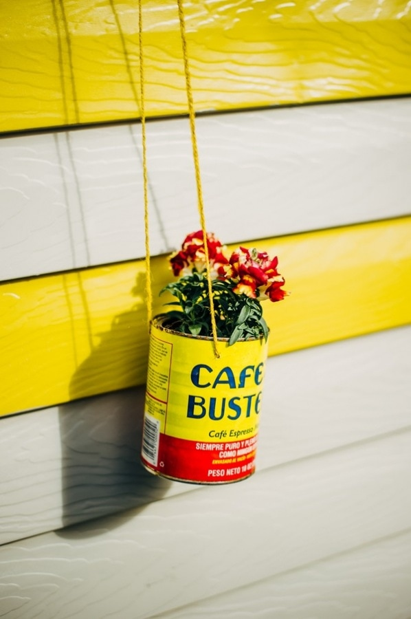 Quirky Hanging DIY Coffee Can Flower Planter Pot