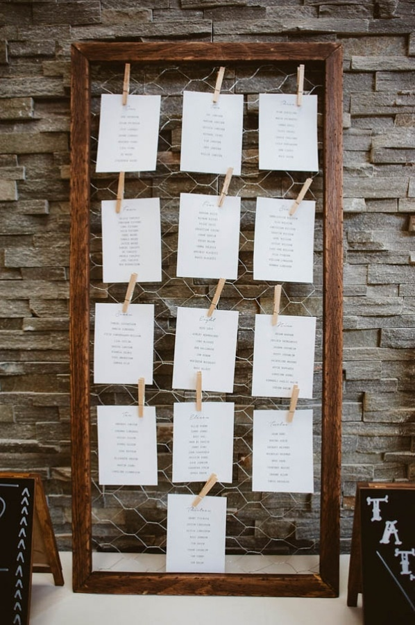 NYC Industrial Modern Escort Card Display