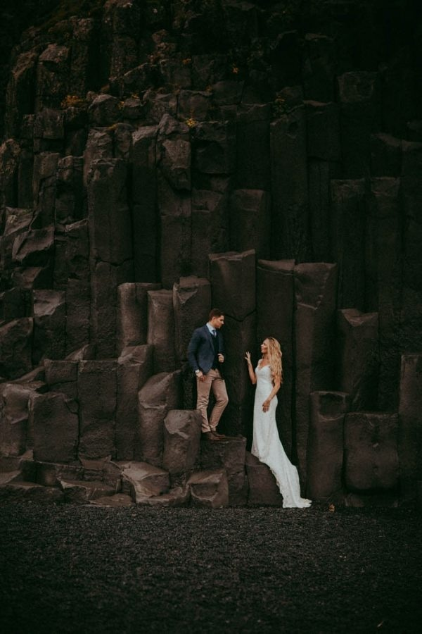 Epic and Romantic Iceland Elopement Bridal Style and Couple Portrait Inspiration