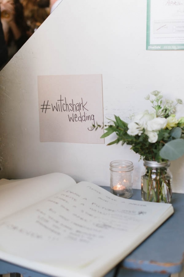 Industrial Modern Guest Book and Hashtag Display