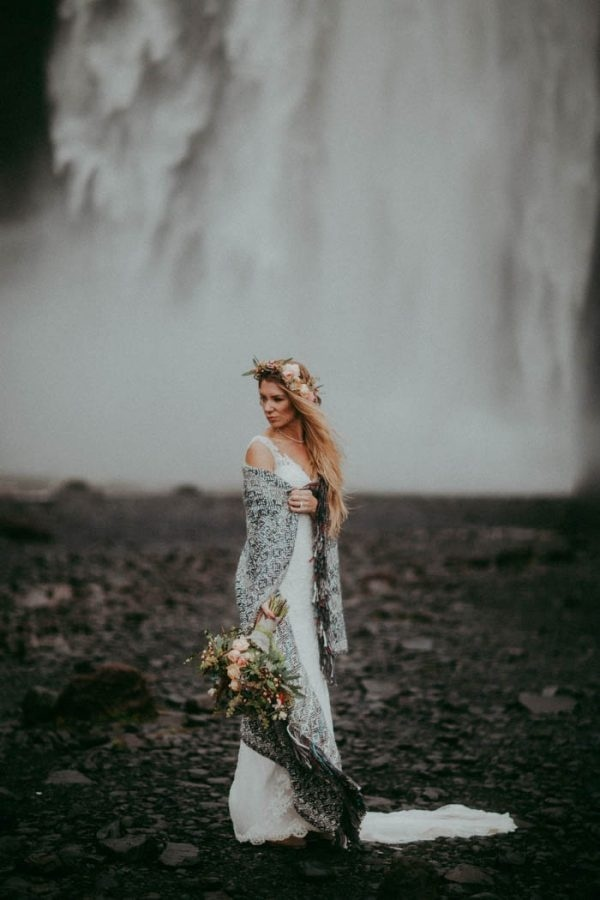 Epic Cozy Elopement Bridal Style in Iceland