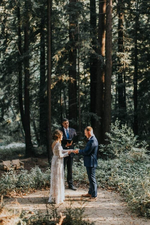 Big Sur Forested Beach Elopement Wedding Ceremony