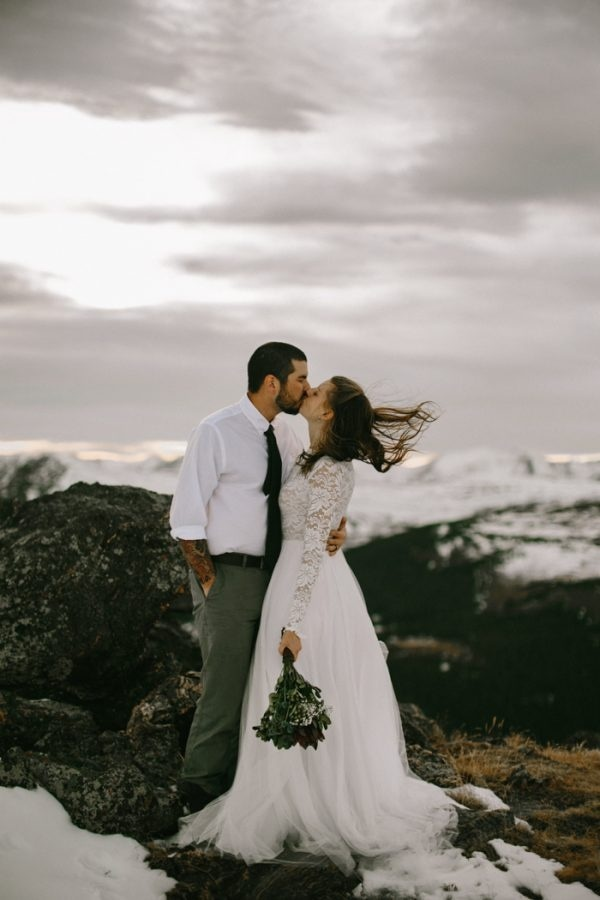 Snowy Mountain Elopement Inspiration