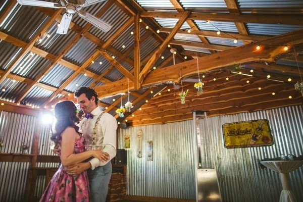 Reception at The Wildflower Barn in Driftwood, Texas