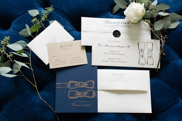 Classic Elegant Navy Blue Wedding Stationary Set