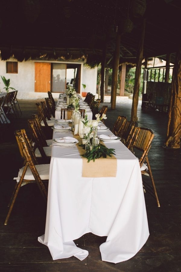 Elegant Tulum Windy Waterfront Wedding Reception Style