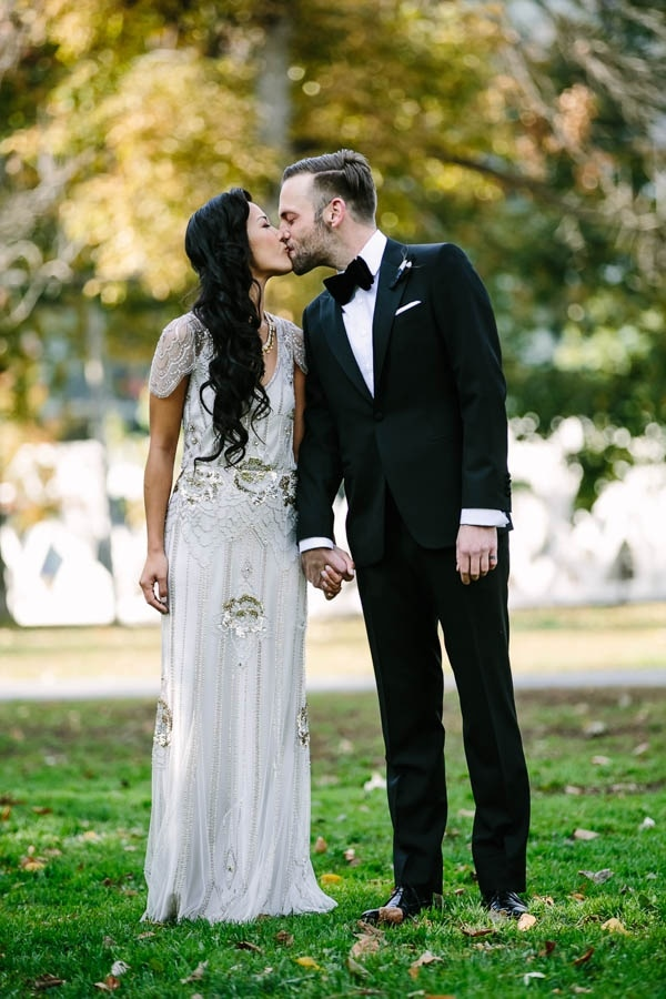 Glam White and Black Metallic Bride and Groom Style Inspiration