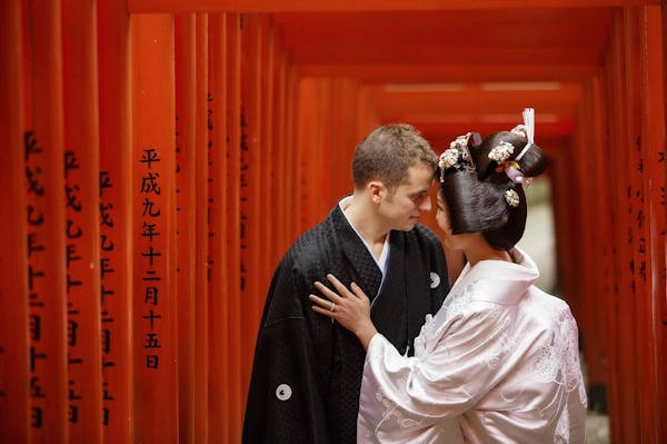Traditional Japanese Bride and Groom Style