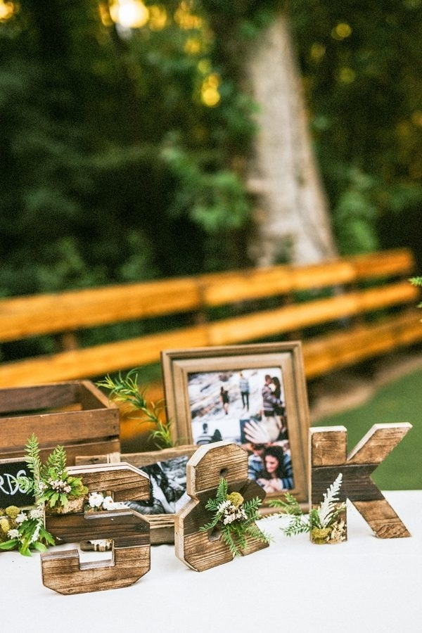 DIY Wood Initial Reception Decor
