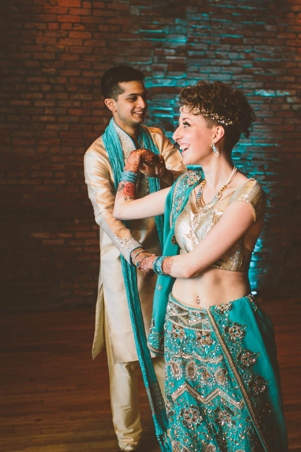 Traditional Indian Bride and Groom Style
