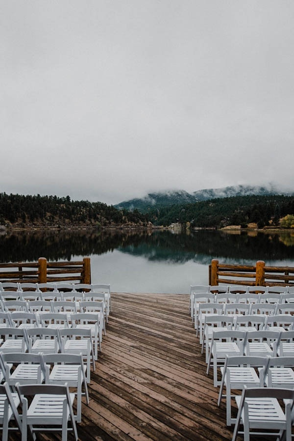 Winter Wedding Ceremony on the Lake