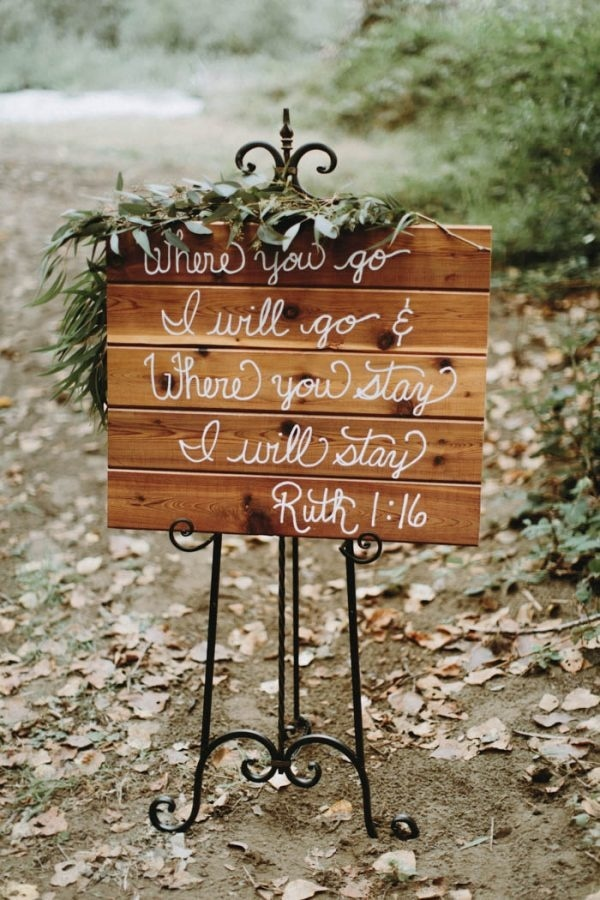 Wedding Sign with a Quote from The Bible