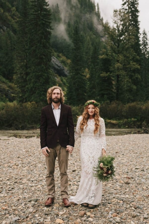 Bohemian Inspired Bride and Groom Style