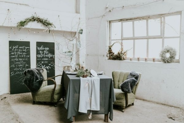 Intimate and Edgy Winter Wedding Inspiration