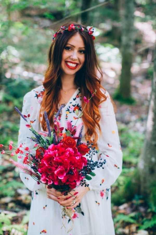 Bohemian and Whimsical Bridal Style