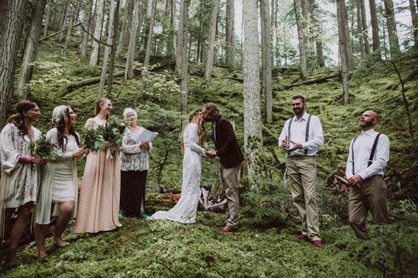 Intimate Wedding Ceremony in the Forest Wedding Inspiration Board