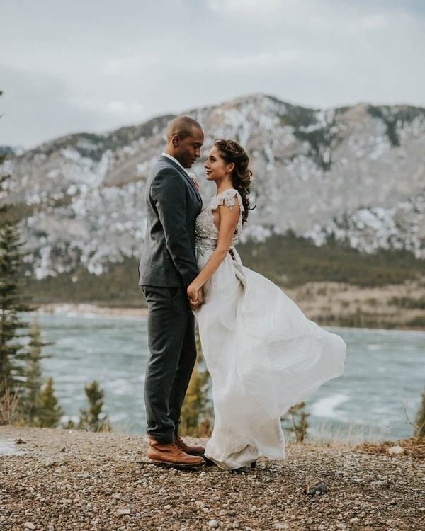 Romantic Mountain Elopement in Banff National Park