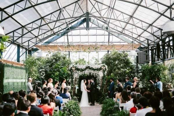Lush Greenhouse Wedding Ceremony at the Planterra Conservatory