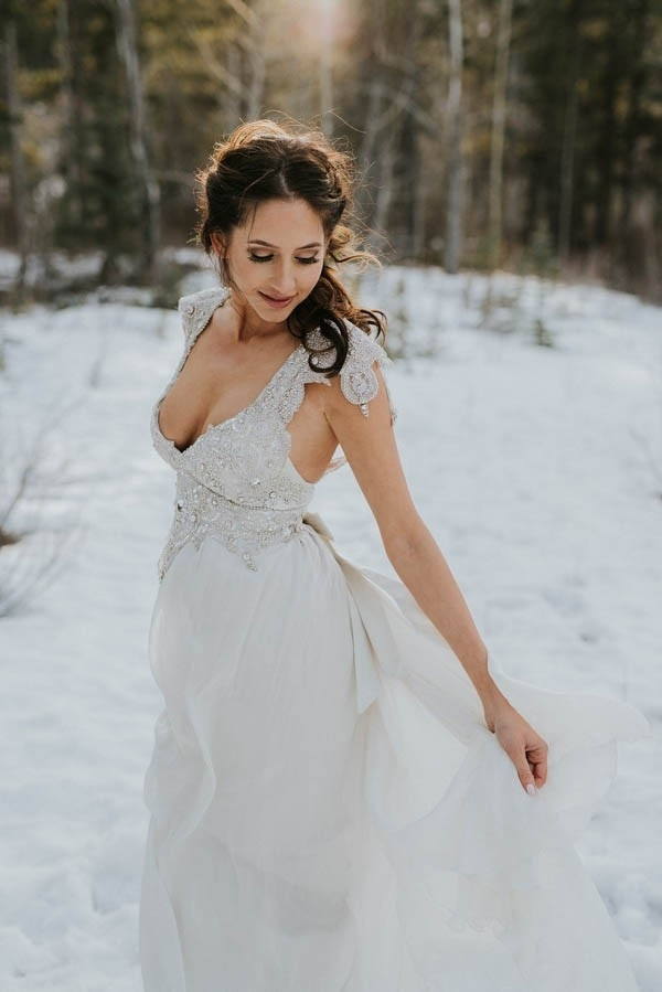 Winter Elopement Bridal Style